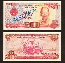 1988 VIETNAM 500 DONG PA 0000000 P-101Bs UNC *SPECIMEN*