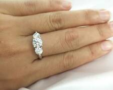2ctw 6.5mm Round Cut Moissanite Diamond Double Halo Engagement Ring
