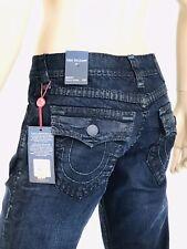$329 Super T True Religion Men Jeans 32 33 34 36 38 Super T Black Rope Mega QT