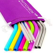 REGULAR SIZE Silicone Straws for 30 oz Tumbler  Stainless Steel Straws Bundle -