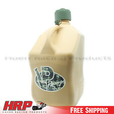 2 Pack VP Racing Tactical Tan Square 5 Gallon Racing Fuel Jug with Hose Gas Can
