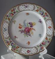 """10.25"""" Schumann Empress Bavaria  Charger Platter/Plate  Dresden flowers #43 Iris"""