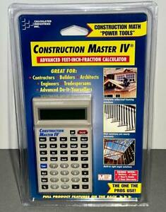 Calculated Industries Construction Master IV Calculator Model #4045 New In Box!