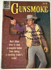 GUNSMOKE Signed Comic Book PSA/DNA COA Autographed by James Arness Dell 1959 TV
