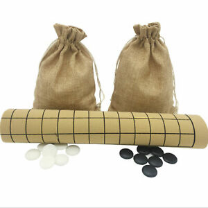 Go Board Game Set  Portable Durable Game Weiqi Board  Piece 19X19 Line 361 Way