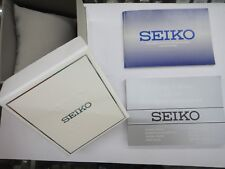 SEIKO Empty Presentation Watch Box With warranty card booklet & cal. 7T62 manual