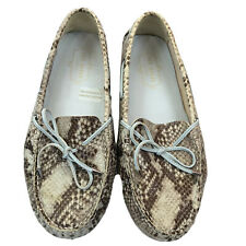 Ted Baker London Size EU 38.5 Snakeskin Print Loafers Driving Shoes Size 7.5