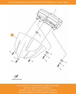 YAMAHA Cover, Meter, 2SB-H3559-00-P0 OEM YS125