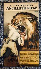"""""""CIRQUE ANCILLOTTI PLEGE"""" Affiche originale entoilée Litho FLORIT années 20"""
