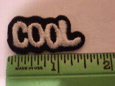"""COOL"" WORD  EMBROIDERY APPLIQUE PATCH EMBLEM LOT, HEAT-SEALED BACK (30 DOZEN)"