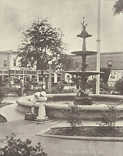 "ORANGE Circle Plaza Park VICTORIAN FOUNTAIN Photo Print 910 11"" x 14"""