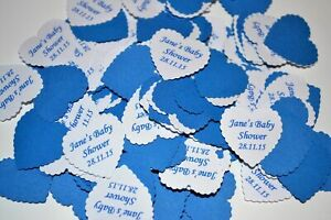 ROYAL BLUE personalised TABLE CONFETTI with NAMES DATE message for any occasion
