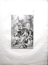 Eau forte et burin, Edelinck, d'après Halé et Trudon, Infante de Portugal, 1690