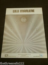 ORIGINALE SPARTITI MUSICALI-Lilli MARLENE