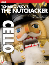 """Tchaikovsky's The Nutcracker-Play-Along For """"Cello"""" Music Book/Cd-New-On Sale!"""