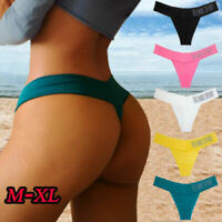 Women Letter Print Lingerie Cotton Briefs Sports Underwear Underpants Panties