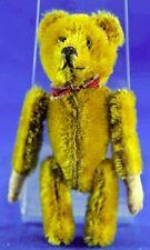 Rare Antique Schuco Golden Mohair Acrobat Tumbling Bear Stitched Nose Mouth
