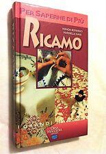 Libro Ricamo W. Bonardo M. Nava Monogrammi Alfabeto Ago Punto Hobby Arte