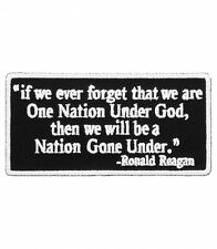 One Nation Gone Under Reagan Patch, Patriotic Patches