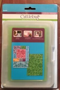 "CUTTLEBUG ""ALL IN ONE"" BEAUTIFUL 10 POSITIVE PLATES 2000286 NEW IN PACKAGE"