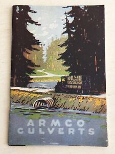 1920's ARMCO CULVERTS & DRAINAGE PRODUCTS 31 PAGE INFORMATION GUIDE