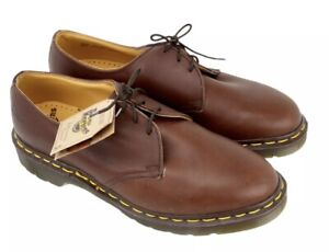 New Old Stock Dr Martens Made in England, Brown  size UK8 1461Z