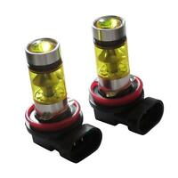 2x 9006 H4 H7 Fog Lights LED 2323 100W 6000K Yellow Projector Driving Bulb s5