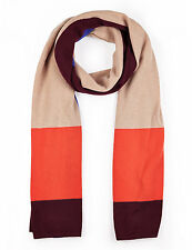 M & S COLLECTION  LADIES LUXURY PURE CASHMERE COLOUR BLOCK ORANGE MIX SCARF