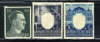 1940-45 Germany Nazi 3-STAMP SET Third Reich Hitler Swastika Deutsch WWII MNH OG