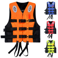 New Life Jacket Adult Swimming Boating Ski Foam Vest with Whistle L-XXXL Size
