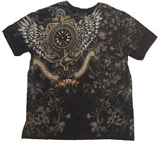 ⭐Xzavier XL Mens Shirt Spellout Angel Wings Clock Saying