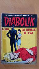DIABOLIK anno IX n. 4  La rivale di Eva  ORIGINALE  Sodip 1970