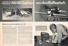 Plan de bâtiment Micro flugmodell Spatz pour Cox Pee Wee/thé Dee Moteur-orig. de 1961