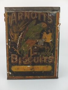 Vintage ARNOTT'S EXTRA RICH GINGER NUT Biscuits Tin General Store Size