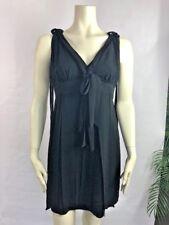 Cheap And Chic Moschino Womens 8 Black Fringe Sleeveless Cocktail Sheath Dress