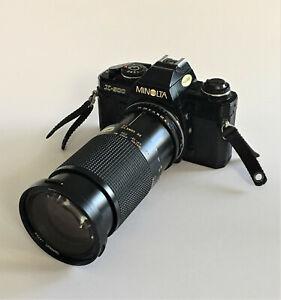 Early 1980's 'Minolta X500' 35mm Film SLR & Tamron 35-135mm 1:3.5-4.2