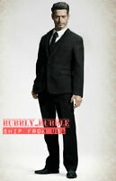 "1/6 Men Business Suit Set BLACK For 12"" Hot Toys PHICEN Male Custom Figure ☆USA☆"