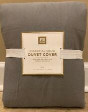NEW Pottery Barn Teen Essential Solid Twill TWIN Duvet GRAY
