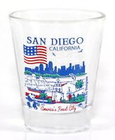 SAN DIEGO CALIFORNIA GREAT AMERICAN CITIES COLLECTION SHOT GLASS SHOTGLASS