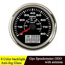 85mm Digital Odometer Miles GPS Speedometer Speed Guage 8 Colors Backlight IP67
