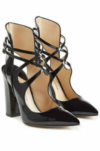 NEW PAUL ANDREW Patent Leather Sevil Block Heel Pumps (Size 36.5)-$845.00