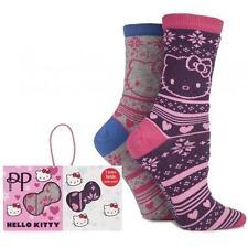Hello Kitty - Jacquard pretty polly Pack Double Chaussette Ensemble - NEUF &