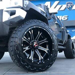 "HUMMER H2 H1 Wheels HARTES METAL 20"" STRIKE in Black Wheel 20x10 Rim PCD 8x165.1"