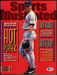 Alex Rodriguez Autographed Sports Illustrated 1st SI No Label Beckett H10114