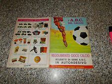 ALBUM L'ABC DEL CALCIO ED.LA FOLGORE 1966/67 Q.COMPLETO(-3 FIG e 32 SCUDETTI)