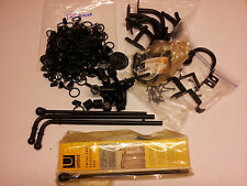 LARGE MIXED LOT UMBRA  DRAPERY HARDWARE  /  HOOKS  /  RODS  /  TYE BACKS