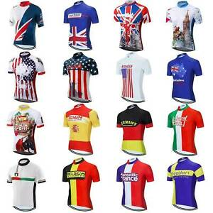 2021 Countries Team Cycle Jersey Top Men's Short Sleeve Bike Cycling Shirt S-5XL