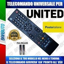 TELECOMANDO UNIVERSALE TV UNITED CLICCA IL TUO MODELLO LO RICEVERAI GIA PRONTO