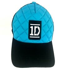 New NWT 1D One Direction Band Baseball Cap Hat Blue Black Quilted Adjustable