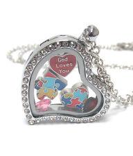 High Quality Crystal Autism Awareness Jewelry Puzzle Piece Charm Necklace w/ Box